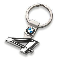 Оригинальный брелок для ключей BMW 4 Series Key Ring, Silver (80272454650)