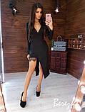 Нарядное женское платье беж чёрный бутылка красный, фото 4