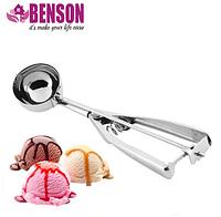 Ложка для мороженого шариками механическая из нержавеющей стали Benson BN-168 6 см