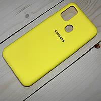 Силиконовый чехол Silicone Case Samsung Galaxy M30s (2019) Желтый