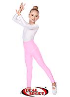 Гимнастические лосины детские, светло-розовые GM040041 (эластан, р-р 1-4, рост 104-152см)