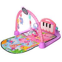 Развивающий коврик KK2622 игрушка для малышей с подвесками пианино музыкальная