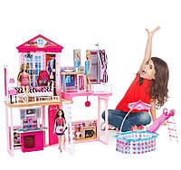 Игровой набор дом мечты Барби с бассейном и 3 куклами в комплекте Barbie Dreamhouse оригинал