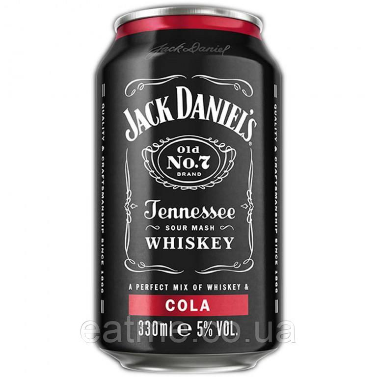 Jack Daniels & Cola Алкогольный газированный напиток с виски и колой