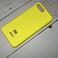 Силіконовий чохол Silicone Case Xiaomi Redmi 6A Жовтий, фото 1