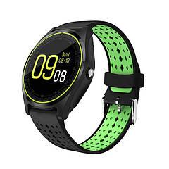 Розумні годинник Smart Smart Watch V9 Black/Green (SWV9BLG)