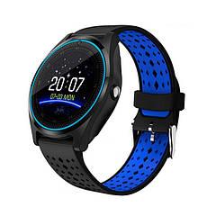 Розумні годинник Smart Smart Watch V9 Black/Blue (SWV9BLB)