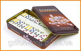 Настольная игра Домино в металлической коробке