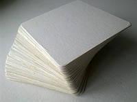Бирматы, бирдекели, костеры пустые (без печати). Квадрат 90 х 90 мм. или круг 90 мм. Упаковка - 100 шт.