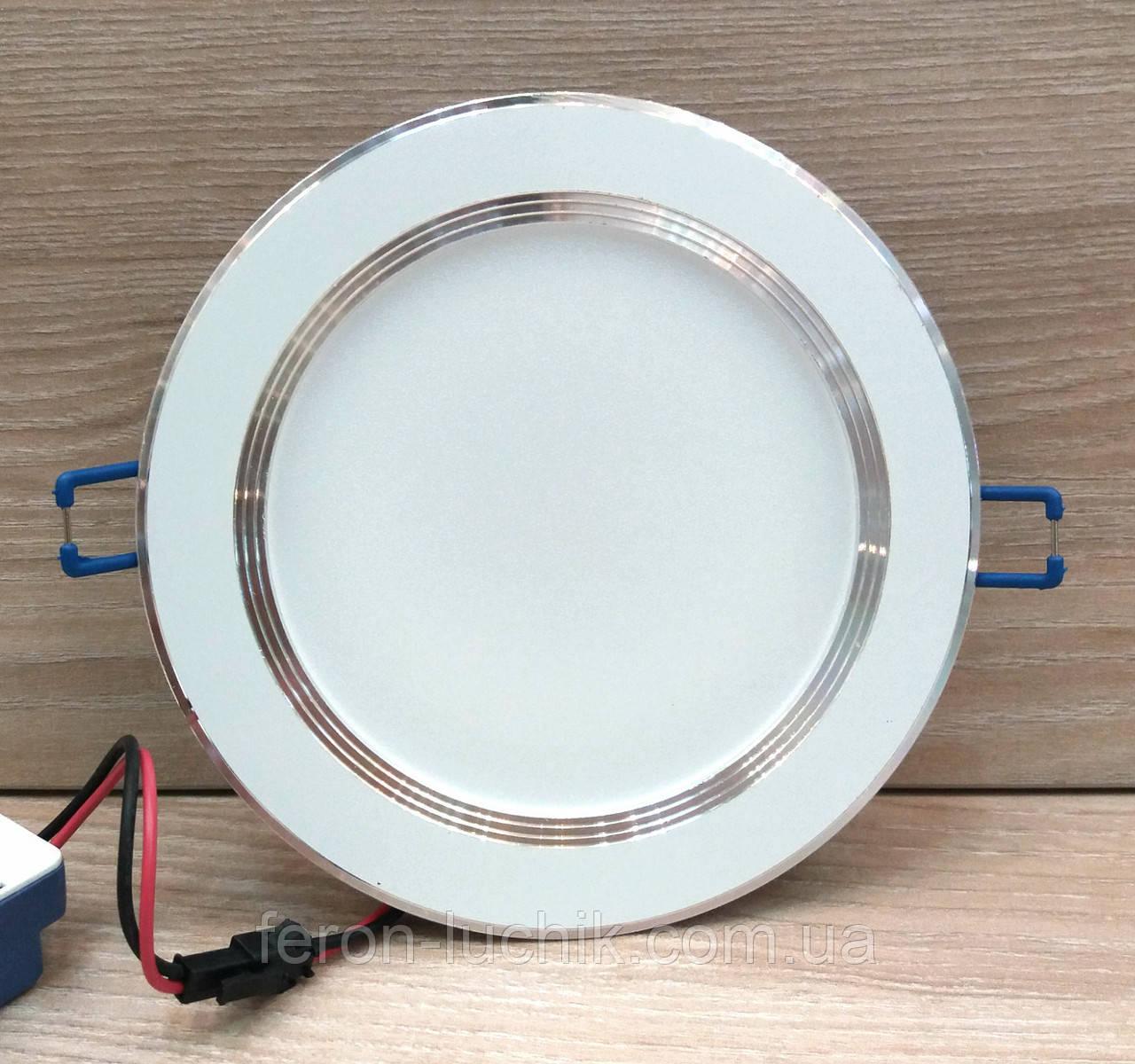 Светильник светодиодный Feron AL527 12W 4000K (LED панель) встраиваемый точечный