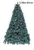 Новогодняя елка искусственная литая Премиум голубая (высота 2,1 м)