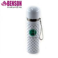 Вакуумный детский металлический термос Benson BN-56 350 мл   Белый