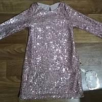 Платье нарядное для девочки 2-4 года с паетками