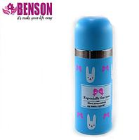 Вакуумный детский металлический термос Benson BN-55 350 мл | Голубой