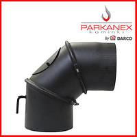 Колено для дымохода универсальное с шибером Parkanex 180мм