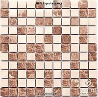 Мозаика СМ3022 С2 Brown White - керамическая мозаика 300х300