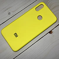 Силиконовый чехол Silicone Case Xiaomi Redmi Note 7 Желтый