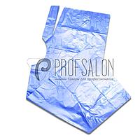 Пеньюар парикмахерский 0,9х1,6м, полиэтилен, 100 шт, голубые