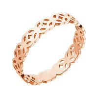 Золотое кольцо Амьен в красном цвете с ажурным орнаментом 000119264 17 размер