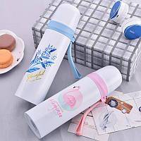 Flamingo Шаблон Изолированная чашка для воды Портативная бутылка для воды Материал из нержавеющей стали Бутылка -1TopShop