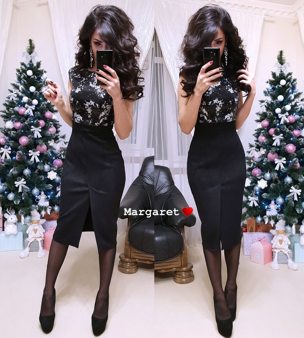 """Элегантное и нарядное платье """" Леди """",черного цвета"""