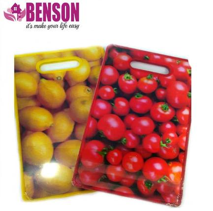 Разделочная доска для нарезки Benson BN-026   Желтая, фото 2