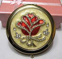 Зеркальце Косметическое Роза, 7 см.