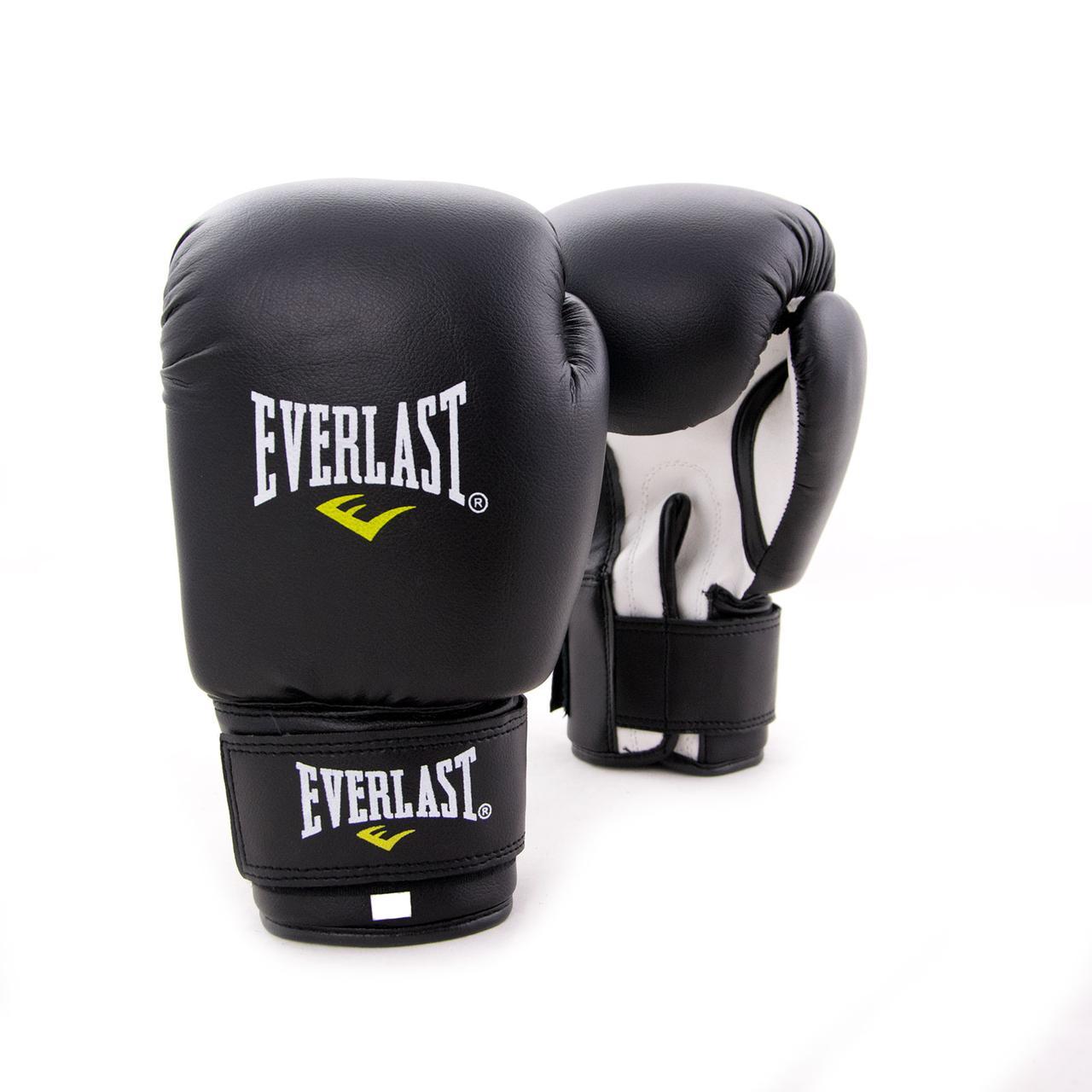 Перчатки боксерские для бокса PVC ЮНИОР (MA-0033) 4 унций Черный