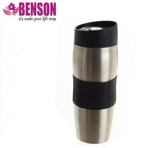 Термокружка металева з поїлкою Benson BN-40 380 мл | Чорна