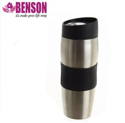 Термокружка металева з поїлкою Benson BN-40 380 мл | Чорна, фото 2
