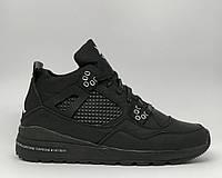 Ботинки мужские зимние кроссовки Jordan NM Split 16155-1 черные с белым реплика
