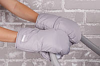 Муфты- варежки для коляски, серые