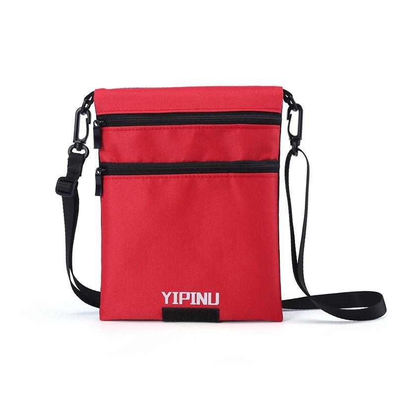 Дорожный кошелек на шею YIPINU. Красный/Черный (AS)