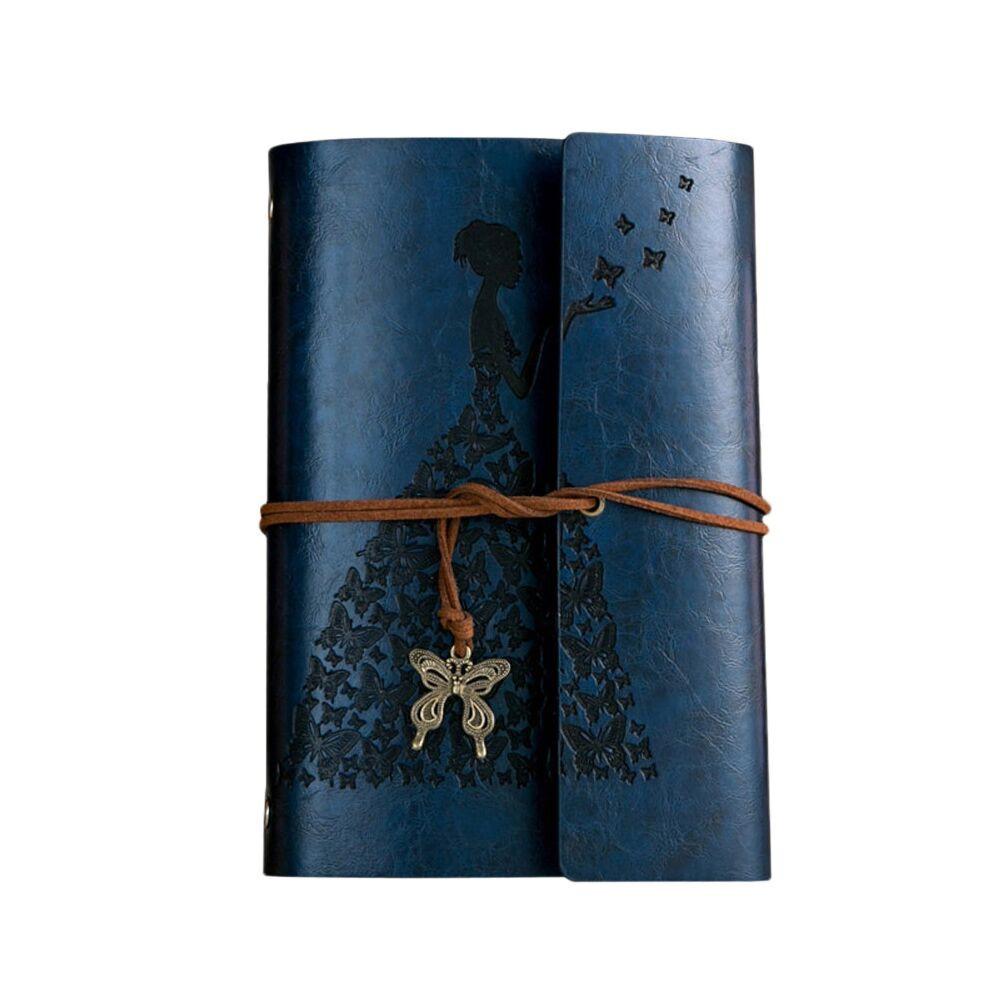 Винтажный блокнот Butterflies. Темно-синий (AS)