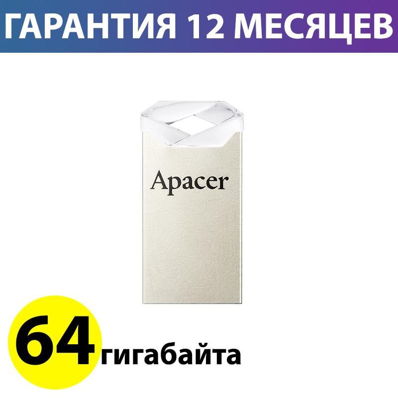 Флешка 64 Gb Apacer AH111 Crystal, AP64GAH111CR-1