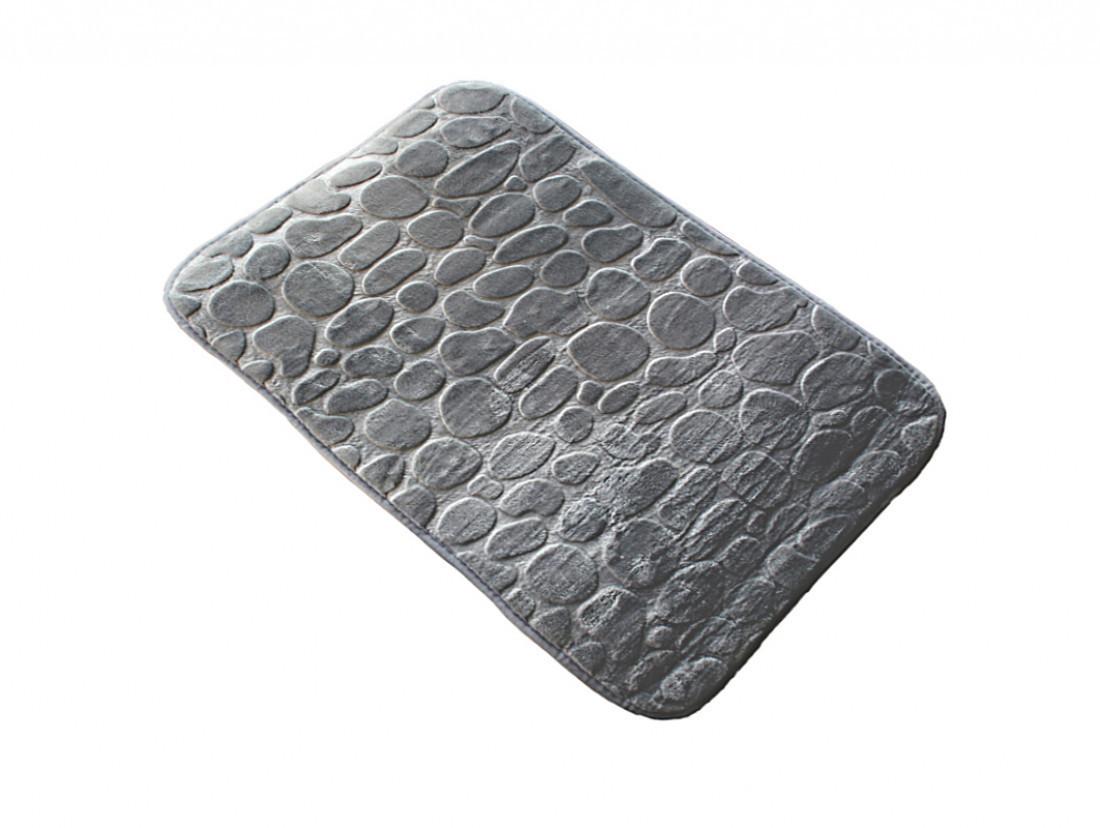 Банный коврик антискользящий хлопковый 45*70 см из коллекции Hojas Серый