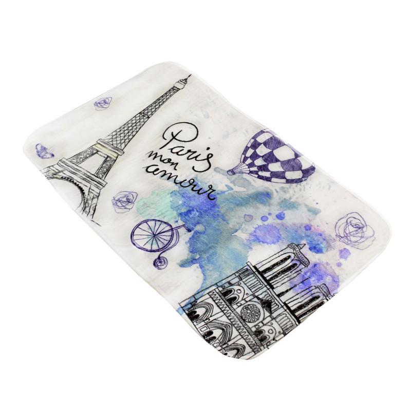 Банный коврик антискользящий хлопковый 45*75 см  из коллекции Menara Eiffel Париж