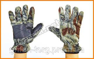 Тактические перчатки для рыбалки (флис) - 25градусов.