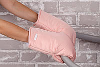 Муфти - рукавиці для коляски, персик, фото 1