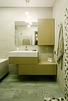зеленая тумба в ванную комнату + зеркало со шкафчиком на tip-on