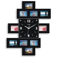 Часы с фоторамками 3 (чёрный), 59*48 см.
