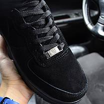 """Зимние кроссовки на меху Nike Air Force High Winter """"Черные"""", фото 2"""