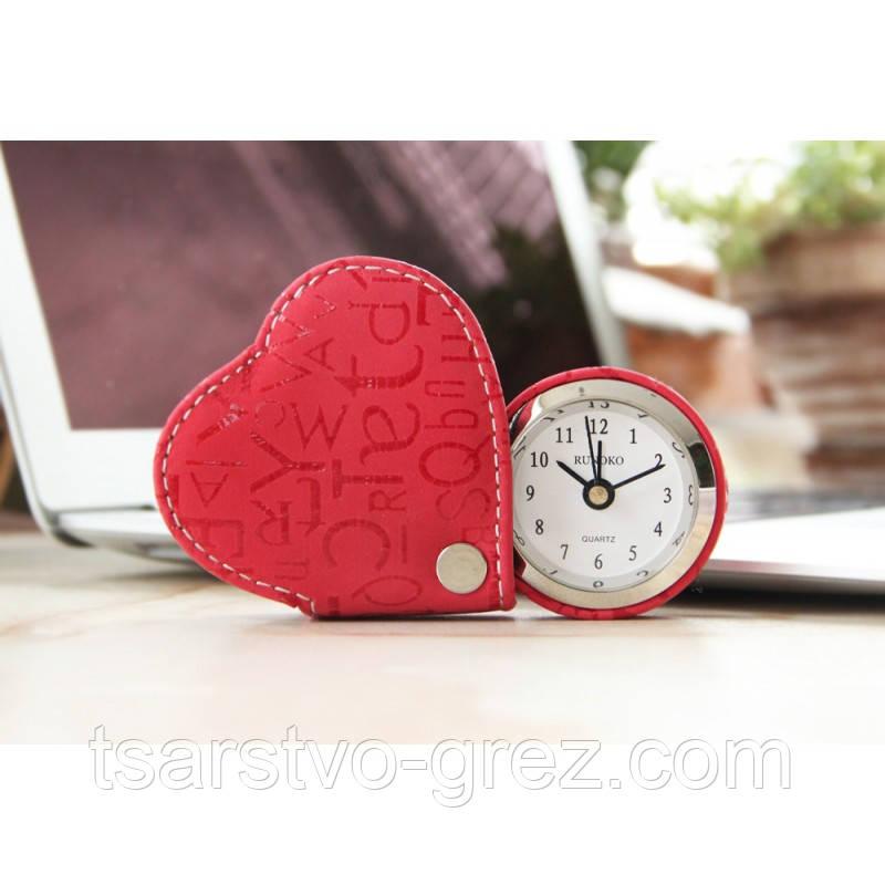 Сердечко- будильник красное