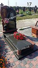 Комбинированный памятник на кладбище