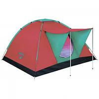 Палатка туристическая трехместная с навесом Bestway 68012, размер 210210120 см, антимоскитная сетка, сумка