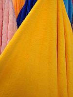 Плюш мягкий 100% полиэстер ширина 160 см для декоративных подушек мягких игрушек желтый, фото 1