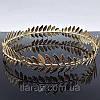 Тіара кругла корона лавр ОЛІМП срібло для волосся вінок лавровий прикраса, фото 3