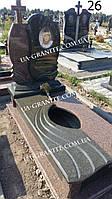 Жіночий пам'ятник із граніту на цвинтар