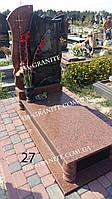 Женский памятник из красного гранита