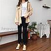 Рубашка женская вельветовая  удлиненная оверсайз бежевая, фото 9